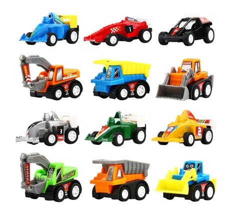 Kit 12 vehículos de construcción